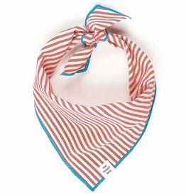 Red Stripe Dog Bandana - Medium