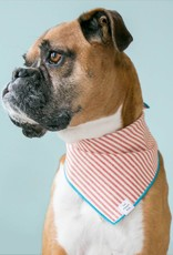 Red Stripe Dog Bandana - Large