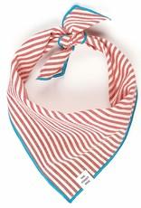 Red Stripe Dog Bandana - Large