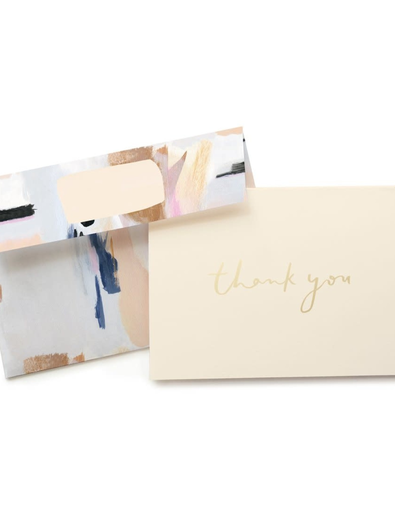 Blue Abstract Thank You Box Set