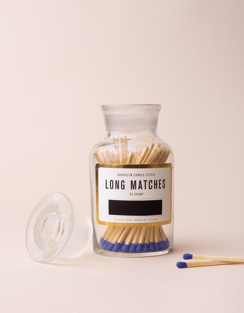 Apothecary Match Bottle - Cobalt
