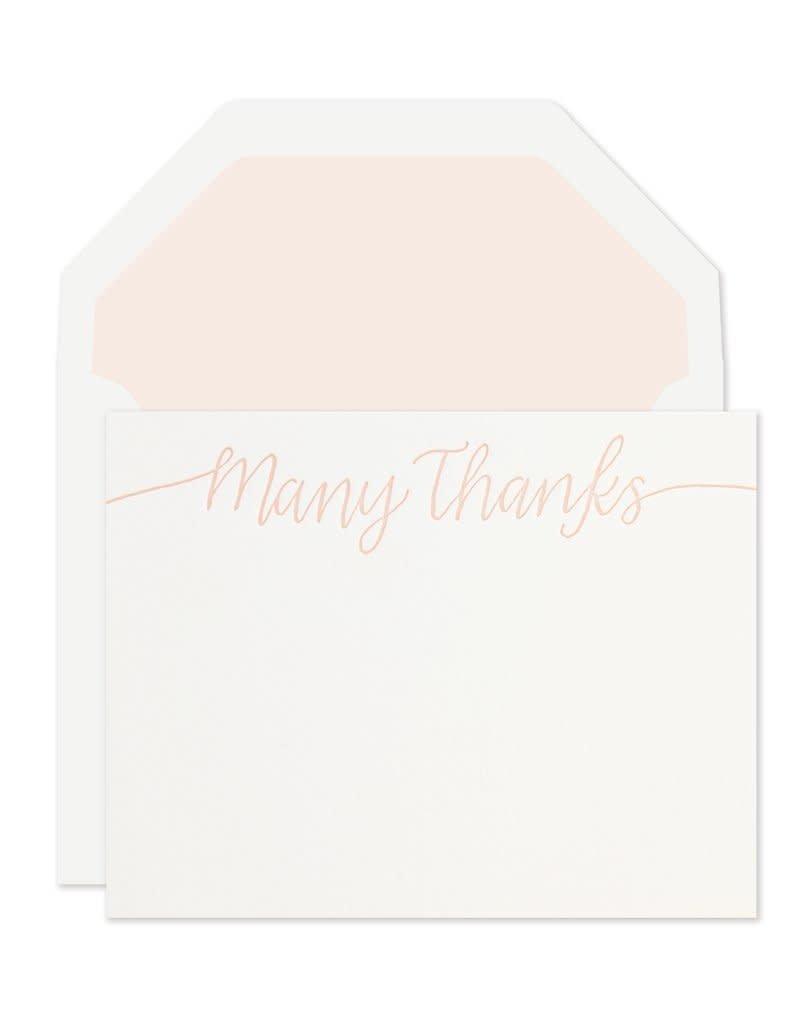 Many Thanks Note Set