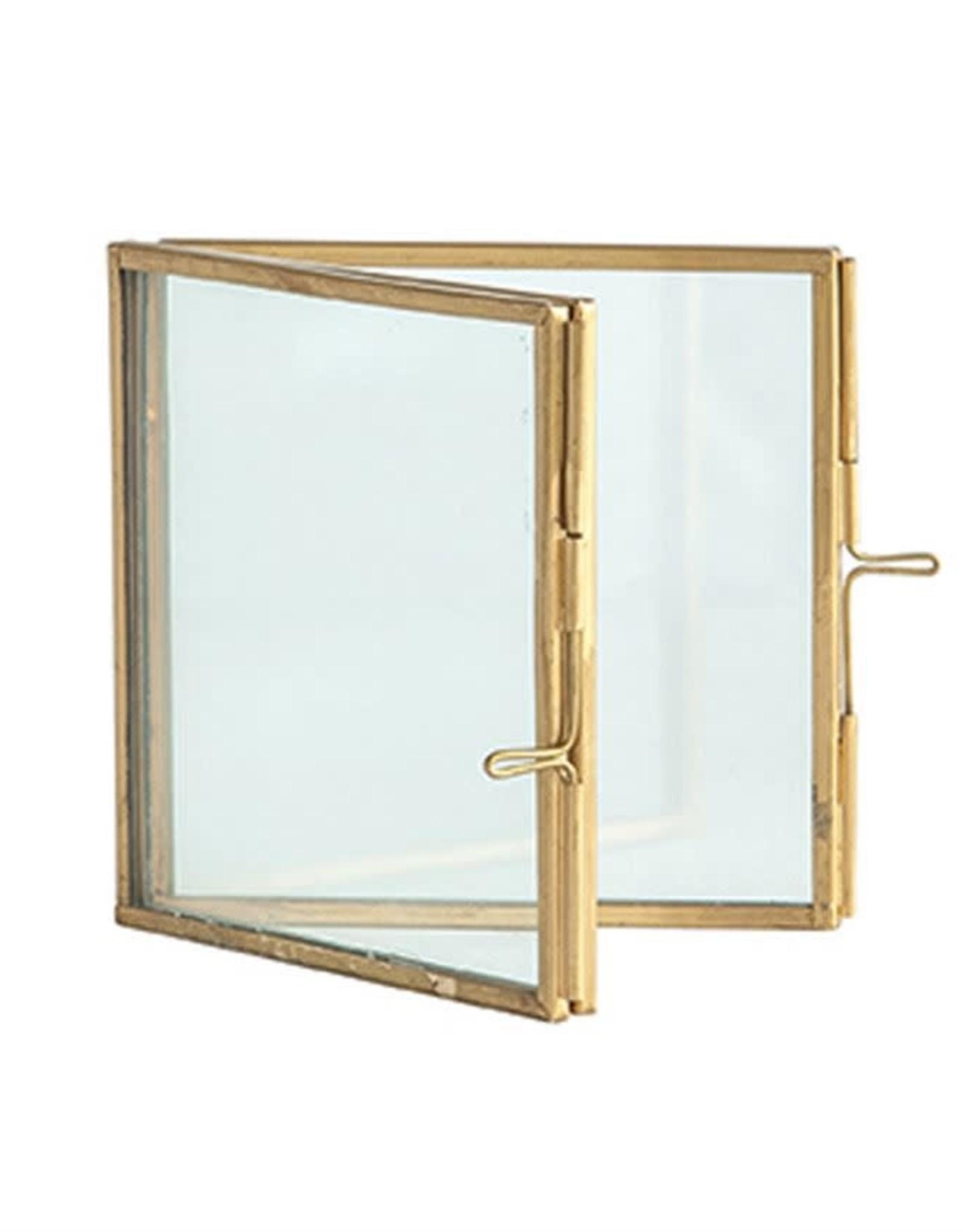 Hinged Brass & Glass Photo Frame - 4x4