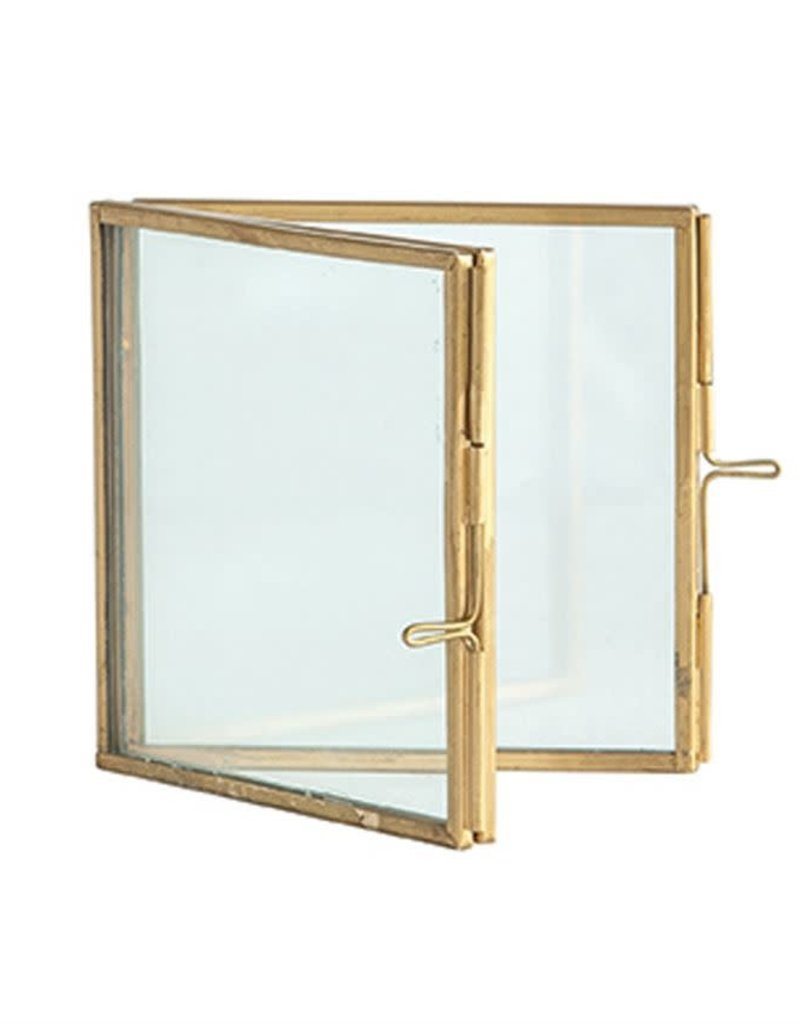 Hinged Brass & Glass Photo Frame - 4x4
