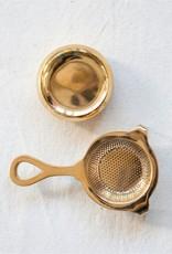 """Brass Tea Strainer - 5"""" L"""