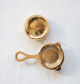 "Brass Tea Strainer - 5"" L"