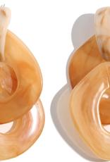 Grande Resin Link Drop Earrings - Yellow