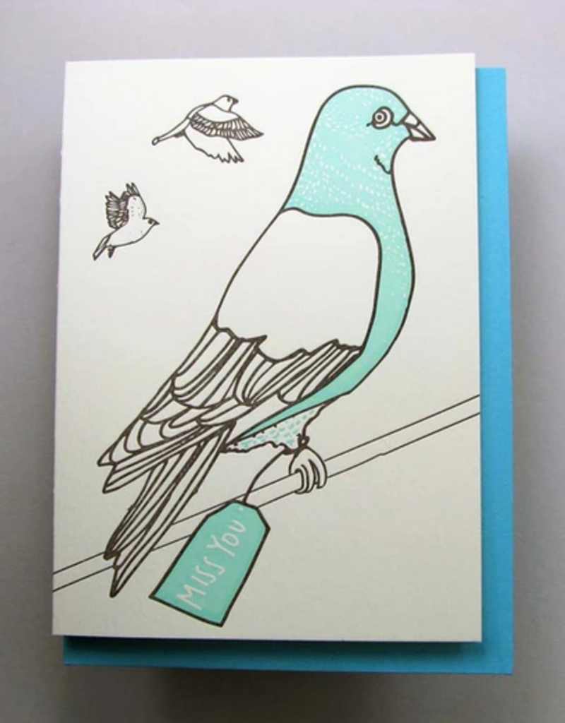 Pigeon Miss You Card