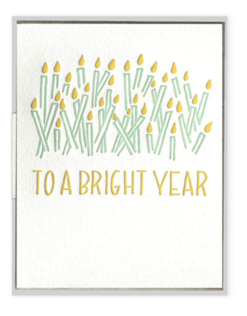 To a Bright Year Birthday Card
