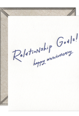 Relationship Goals Anniversary Card