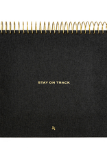 Stay on Track Desktop Notepad - Black Linen