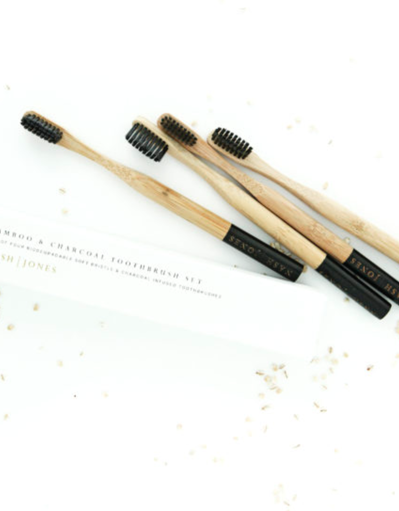 Bamboo and Charcoal Toothbrushes