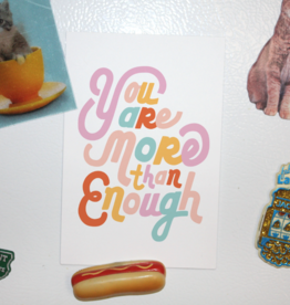 You Are More Than Enough Postcard Print