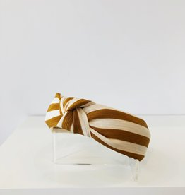Striped Rust Knotted Headband