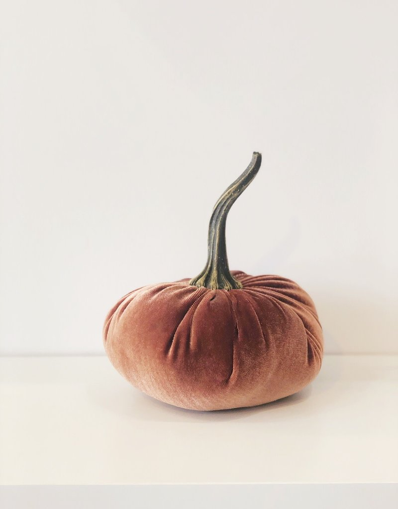 Large Velvet Pumpkin