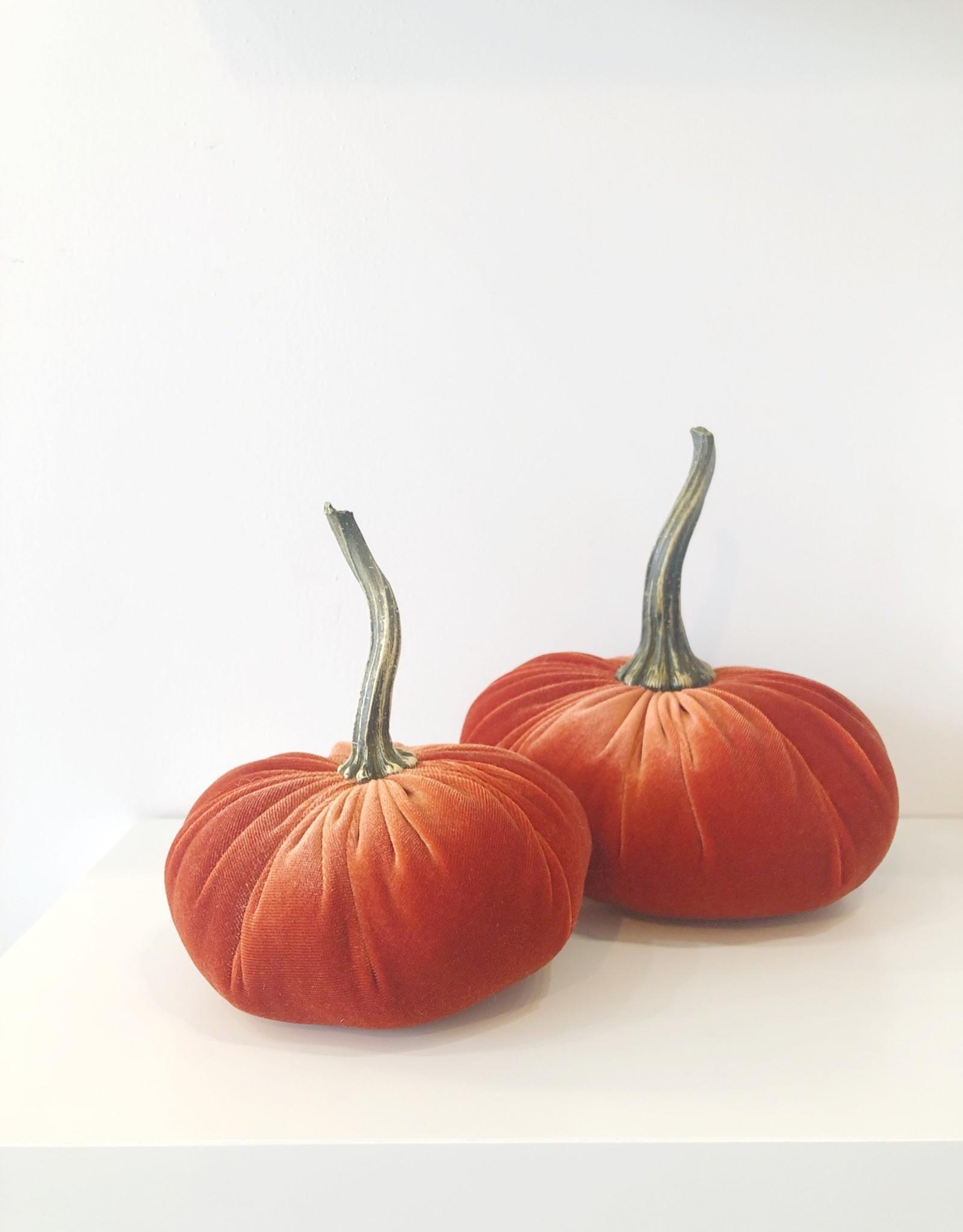 Large Velvet Pumpkin