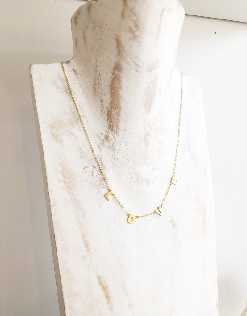 Love Charm Necklace - Gold