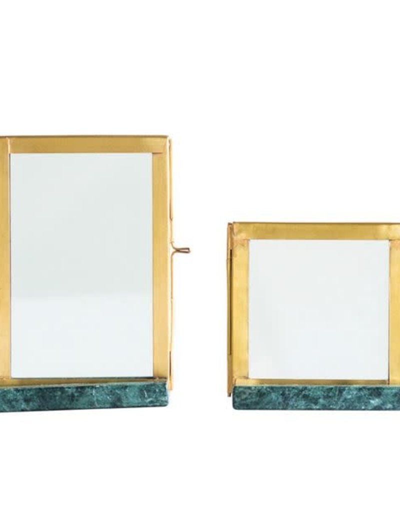 Green Marble & Brass Frame - 4x6