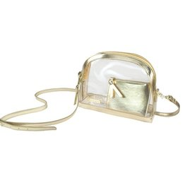 Half Moon Clear Crossbody - Gold