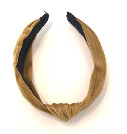Velvet Knot Headband - Mustard