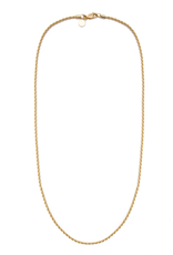 Vintage Rope Chain Necklace - Gold Filled