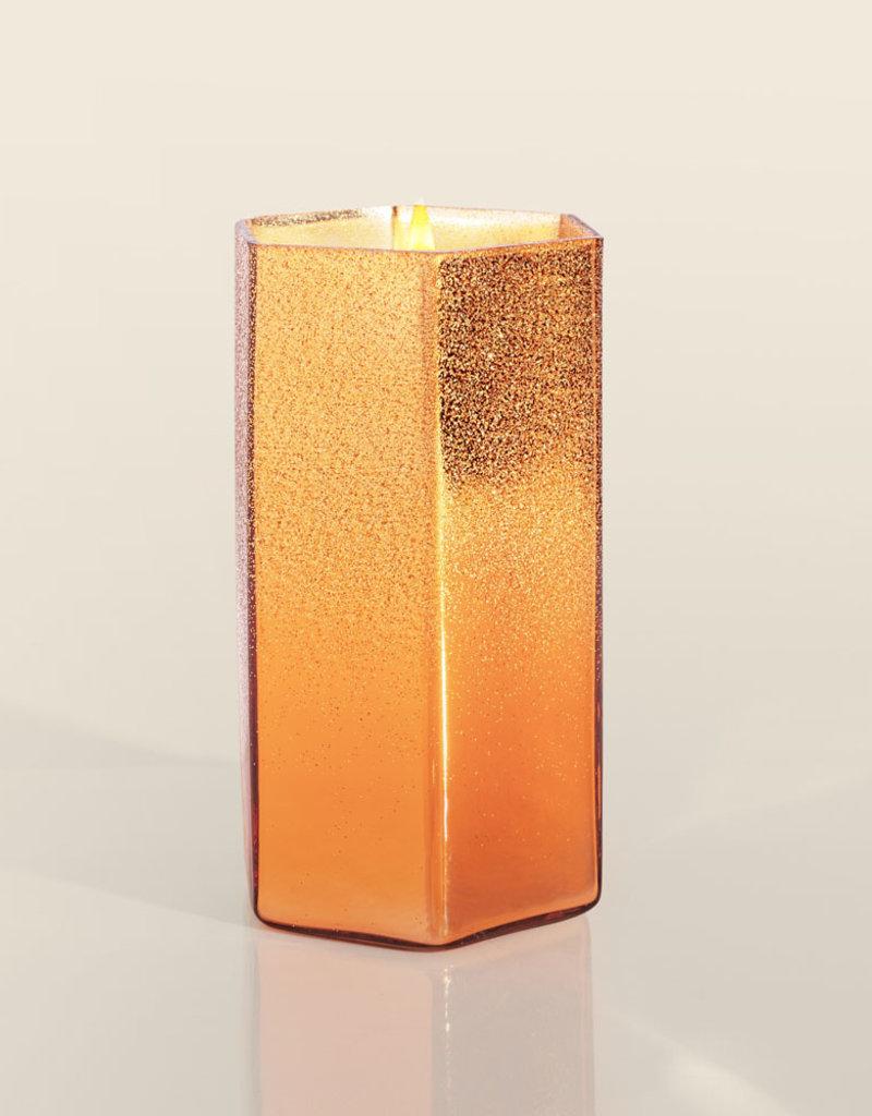 Pumpkin Dulce Copper Glittered Ombre Hexagon Jar