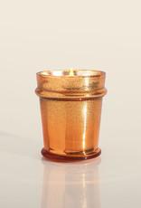 Pumpkin Dulce Copper Glittered Ombre Found Glass