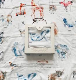 Animal Alphabet Watercolor Blanket