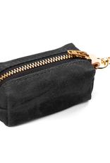 Onyx Waxed Canvas Waste Bag Dispenser (choice of zipper color)