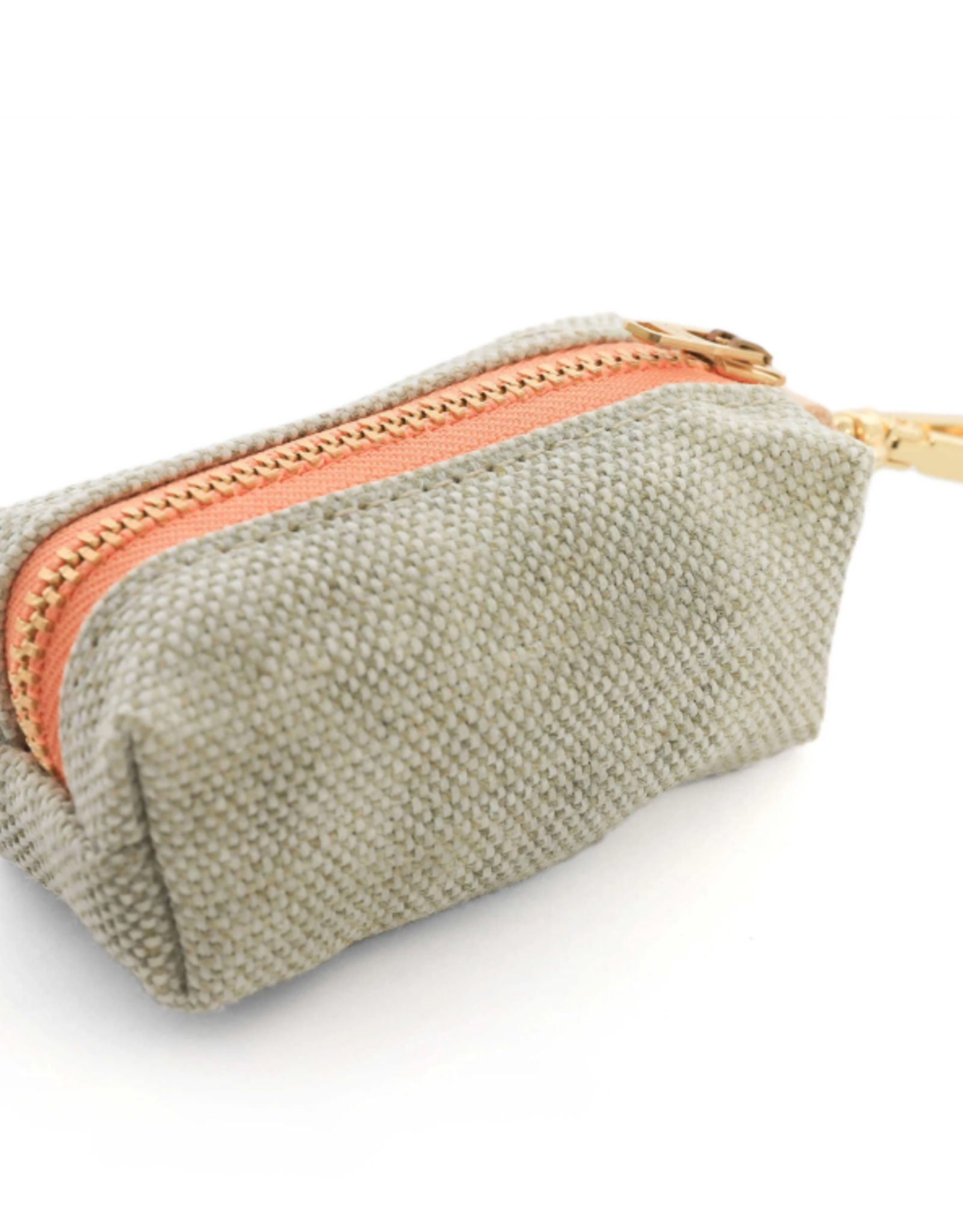 Fog Waxed Canvas Waste Bag Dispenser (choice of zipper color)
