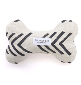 Modern Mud Cloth Dog Bone Squeaky Toy
