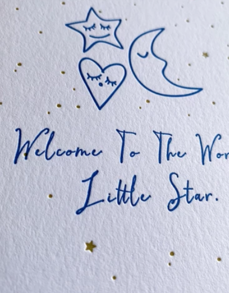 Welcome Little Star Card