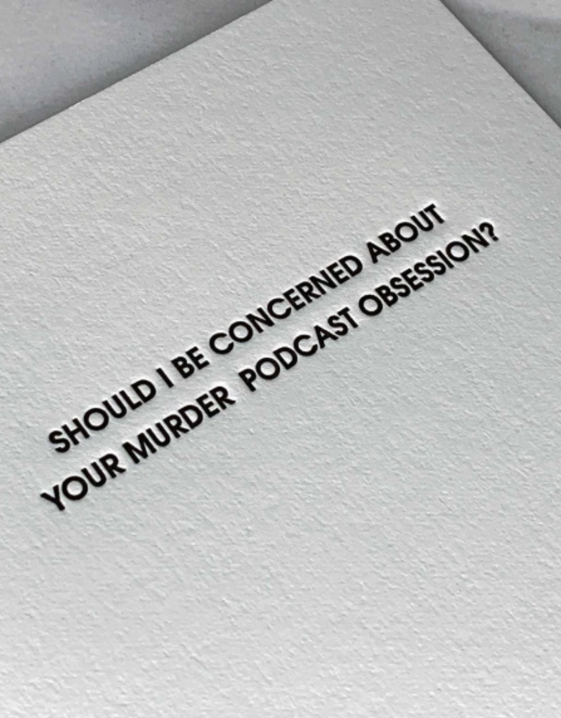 Murder Podcast Obsession Card