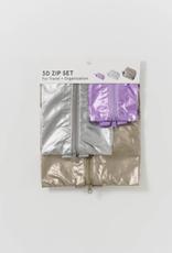 3D Zip Set - Metallics