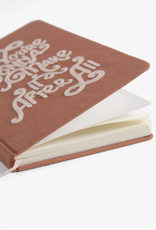 Gonna Make It Embroidered Cotton Journal