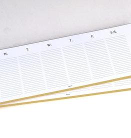 Weekly Planner Keyboard Pad