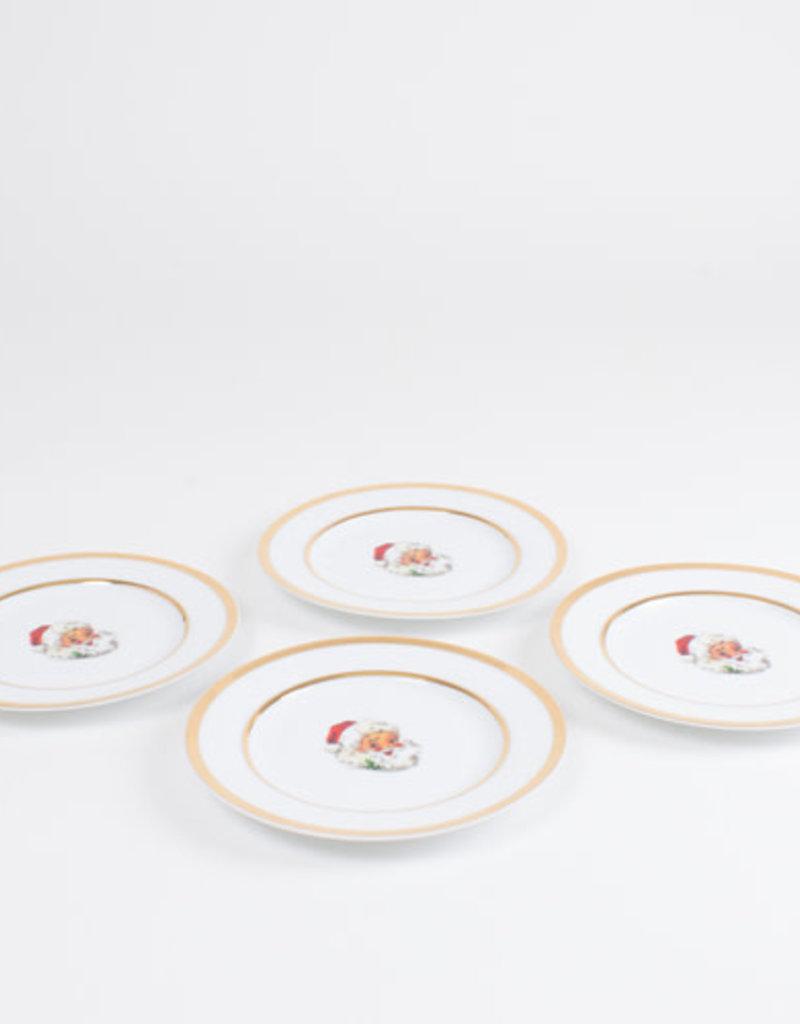 Classic Santa Dessert Plate