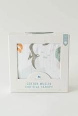 Cotton Muslin Car Seat Canopy - Dino Friends