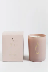 Fireplace Pink Holiday Candle