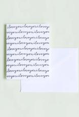 I Love You Script Card