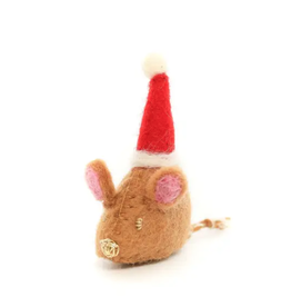 Santa Mouse Holiday Cat Toy