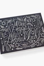 Silver Hanukkah Card