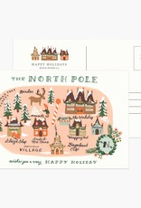 North Pole Map Postcard Set