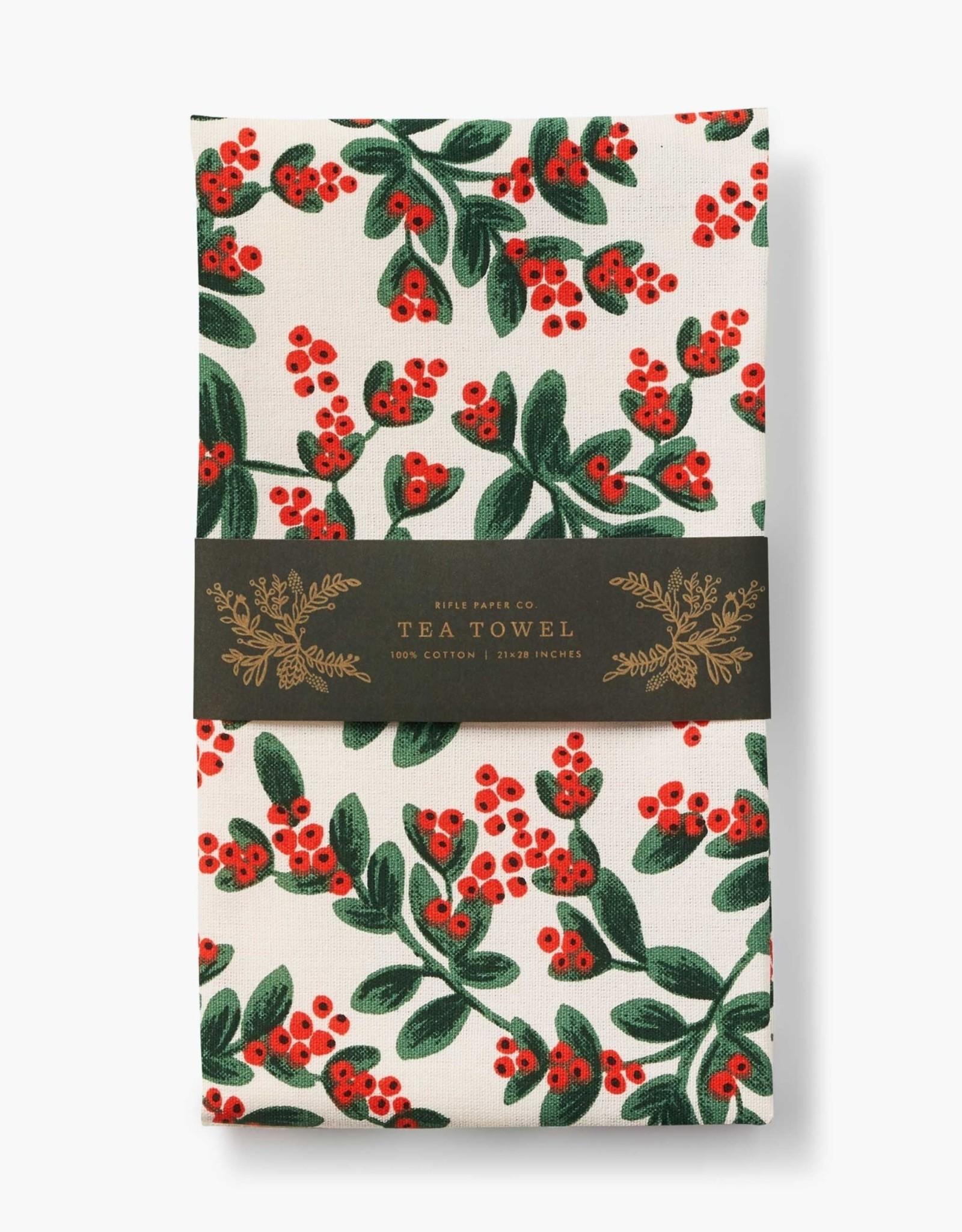 Mistletoe Tea Towel