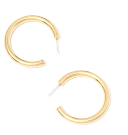 Chunky Lightweight Medium Hoop Earrings