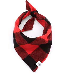 Red & Black Check Flannel Dog Bandana