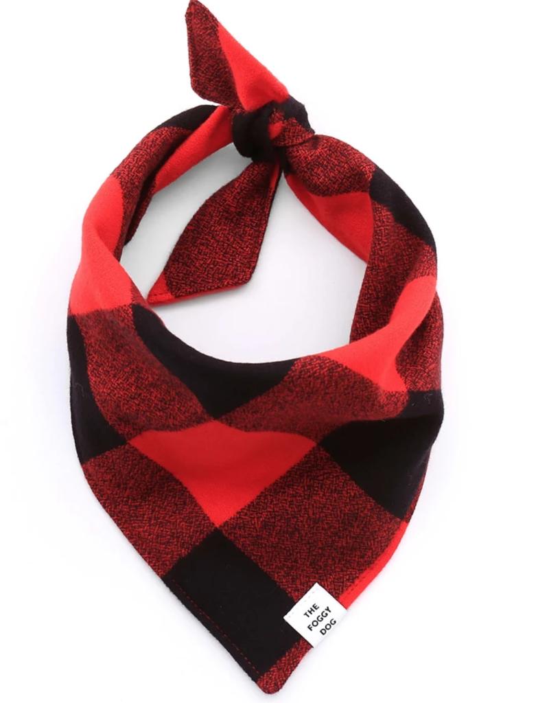 Red & Black Check Flannel Dog Bandana