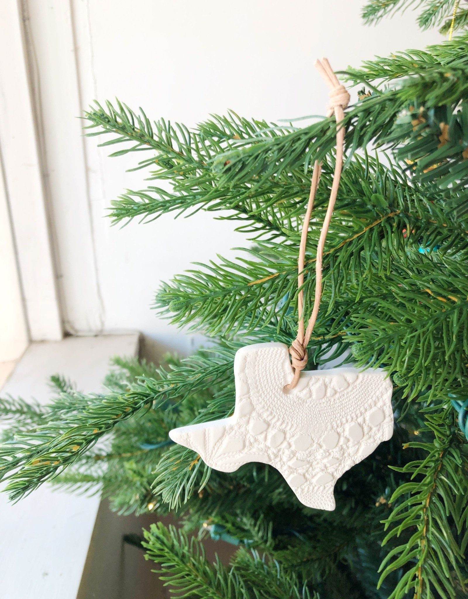 Porcelain Texas Ornament
