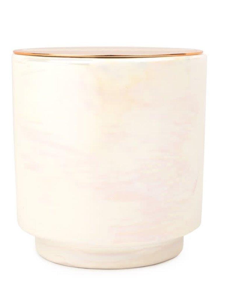 Cotton & Teak Iridescent Candle