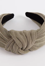 Textured Knit Knotted Headband